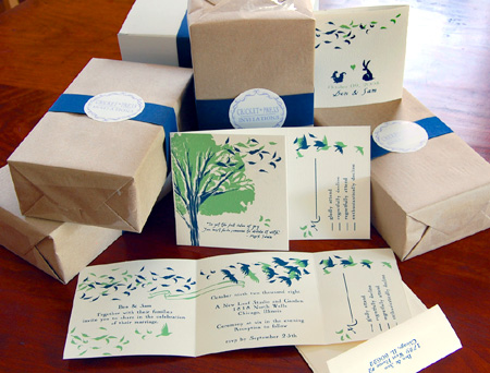 bird-screen-printed-wedding-invitations