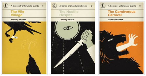 Lemony Snicket Book Covers Reimagined 500x262 Book Covers Reimagined