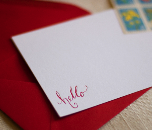 postal press hello letterpress card postal press sneak peek!