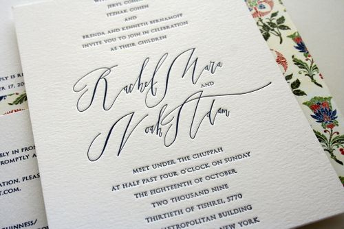 Rae noah s classic wedding invitations with modern calligraphy