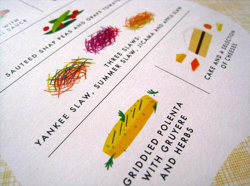 Modern Custom Illustrated Wedding Menu Custom Illustrated Wedding Menus