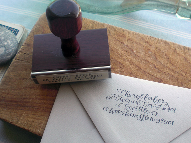 Calligraphy Address Stamps