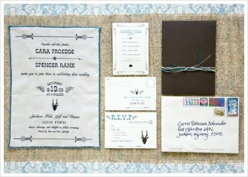 cotton and burlap invitations