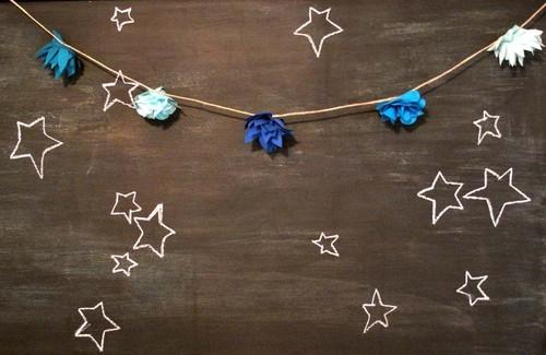 stars and flower garland {happy weekend!}