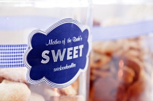 wedding dessert bar ideas jar and container label