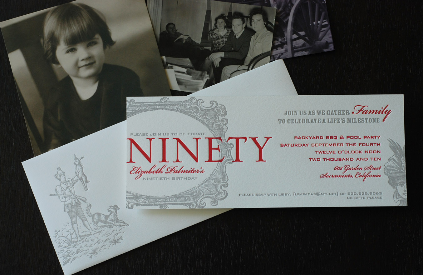 90th birthday party invitation