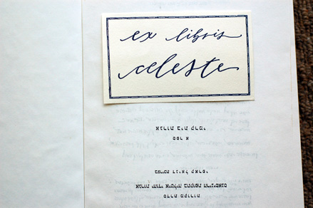 neither-snow-calligraphy-exlibris-bookplate