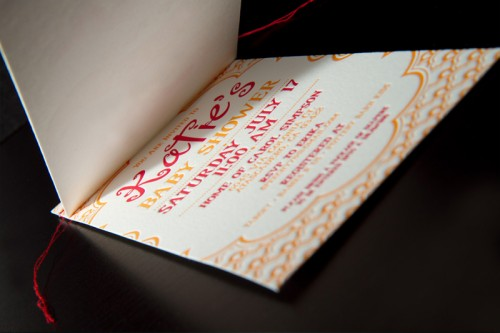 red-orange-letterpress-baby-shower-invitations