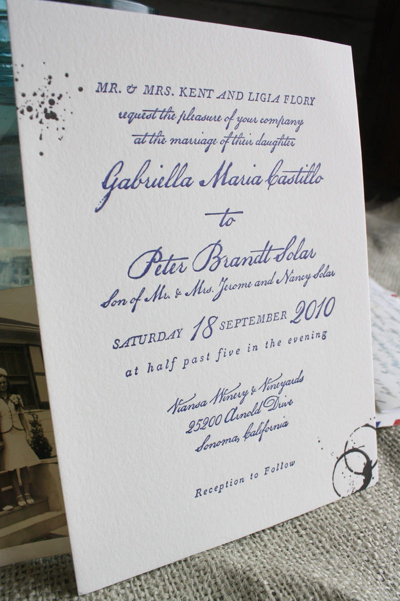 Vintage Airmail Inspired Wedding Invitations