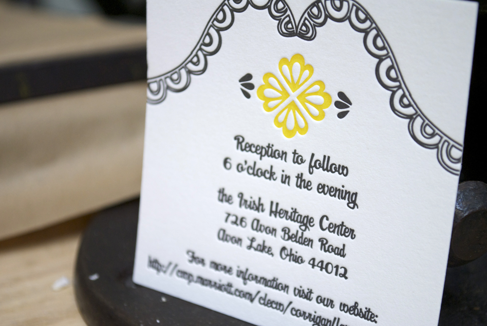 Mary + Kevin's Modern Yellow And Black Letterpress Wedding