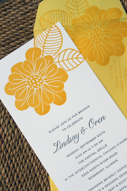 Wedding day after brunch invitations for Wedding brunch invitations