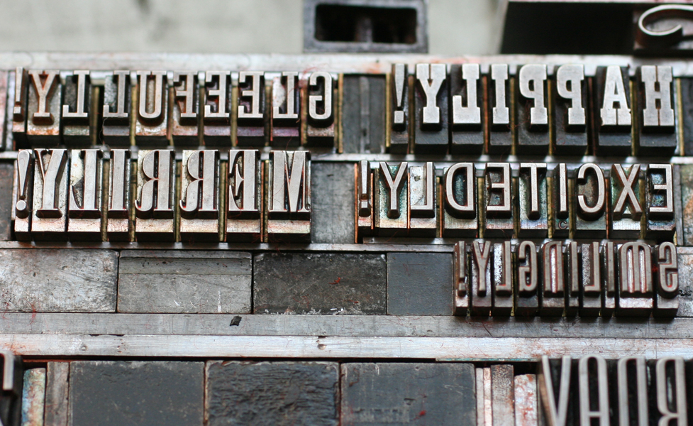 letterpress-antique-type-in-chase & The Printing Process: Letterpress Printing with Antique Type