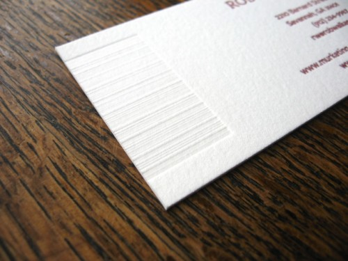 papered together fingerprint business card bar code 500x375 Fingerprint Business Cards