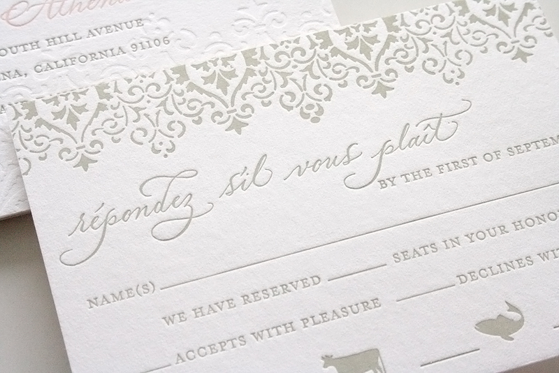Such a beautiful and romantic yet totally classic wedding invitation