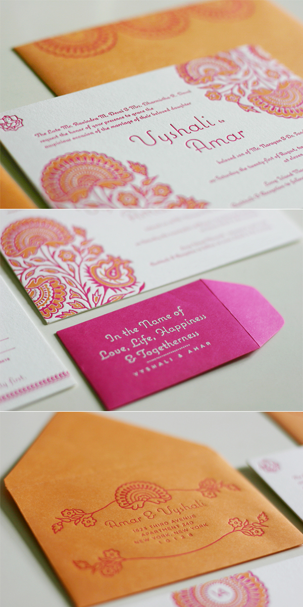 Modern hindu wedding inviatations for Images of hindu wedding invitations