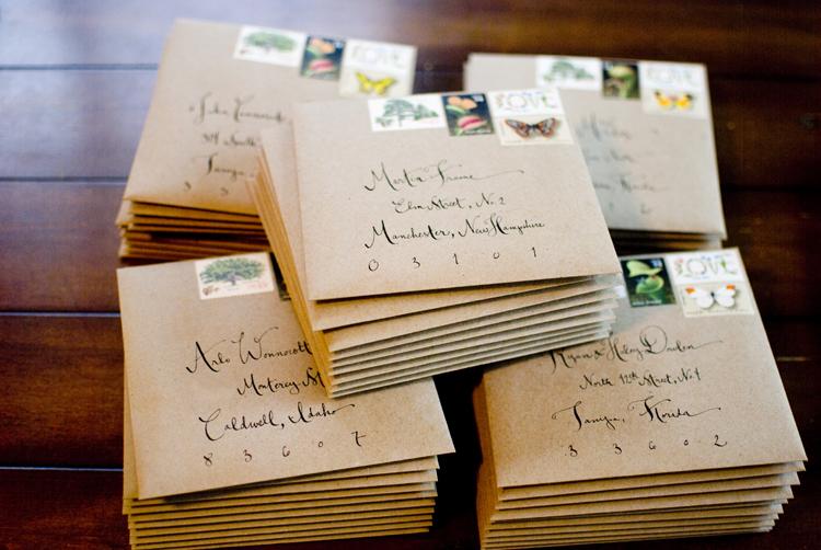 Alyson Levis Vintage Botanical Wedding Invitations
