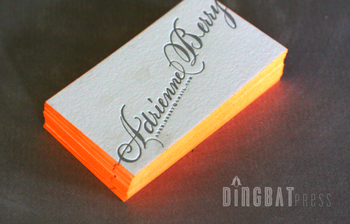 Business Cards Edge Painting 500x320 Colorful Edge Painting