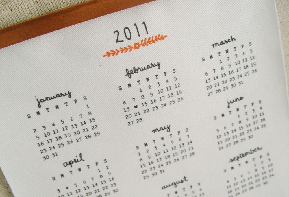 2011 Calendar Round Up Part 1