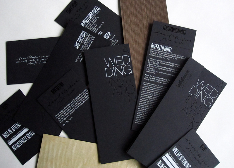 modern foil stamp wedding invitations