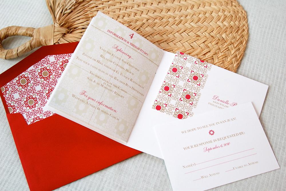 Destination Wedding Invitations Passport: Destination Wedding Passport-Style Invitations