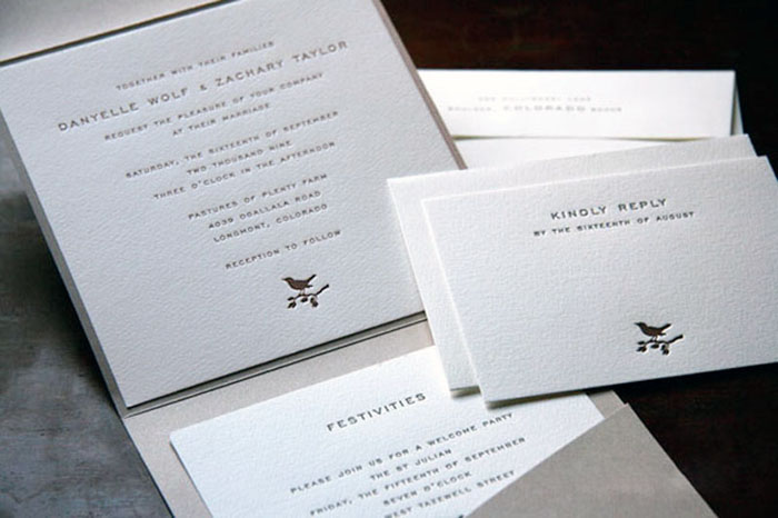 page stationery classic wedding invitation square pocket 500x332 Wedding