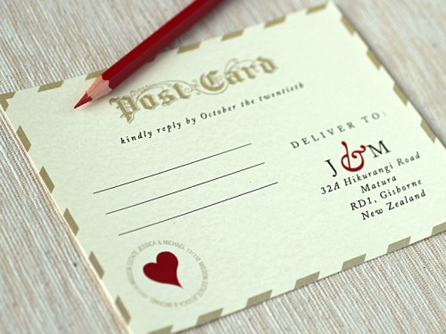 Love Letter Wedding Invitations RSVP 500x375 Love Letter Inspired Wedding Invitations