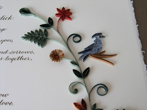 Nature-Inspired-Quilled-Marriage-Certificate