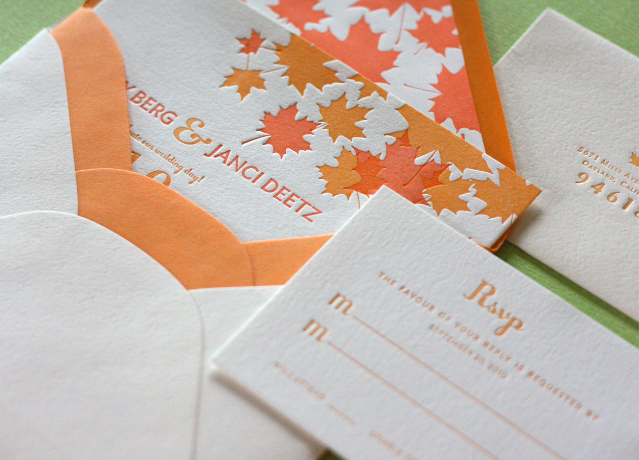 Maple Leaf Wedding Invitations