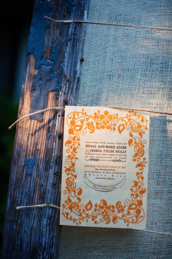 Balsa Wood Orange Blue Wedding Invitations2 300x450 Nikki Joshs Balsa