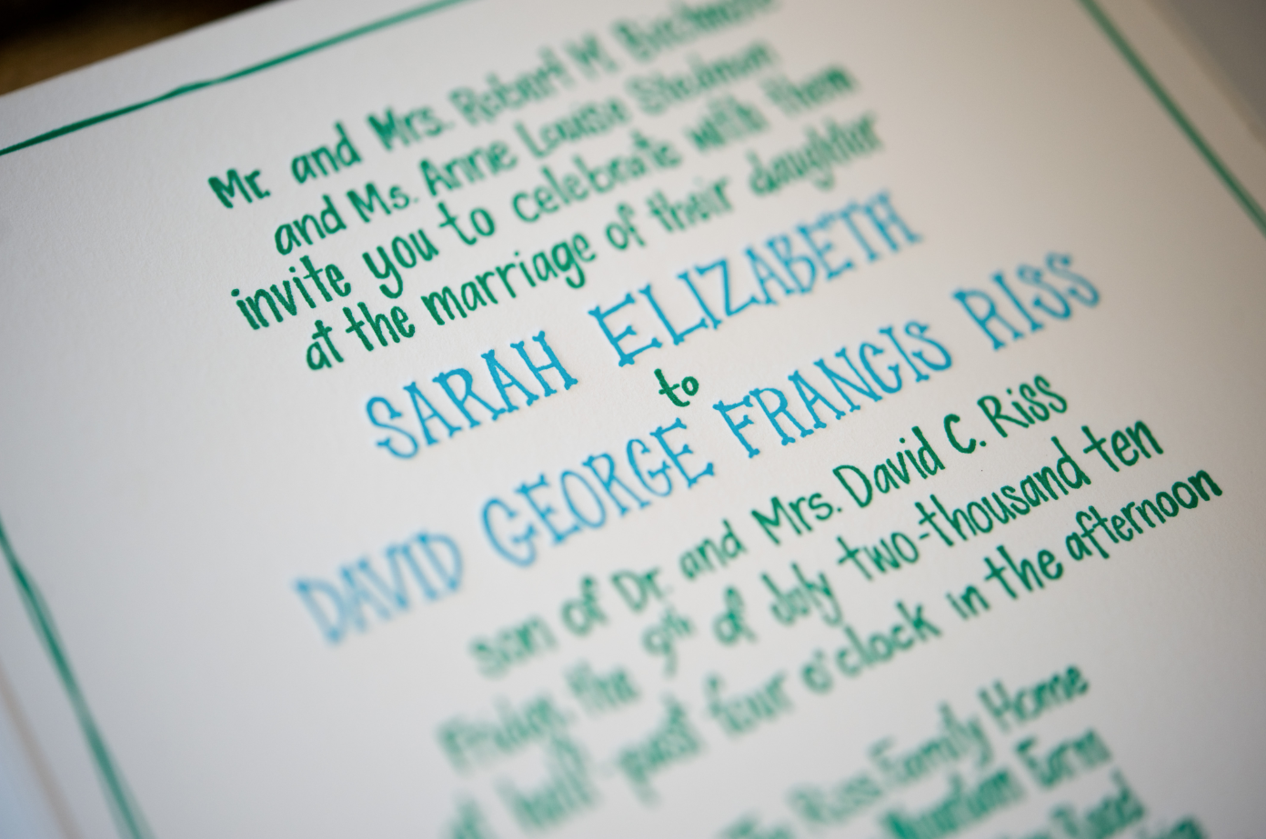 Beautiful Wedding Invitation Templates: Elizabeth And David's Hand Illustrated Farm Wedding