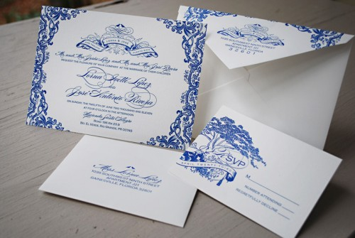 Blue-Letterpress-Puerto-Rico-Wedding-Invitations