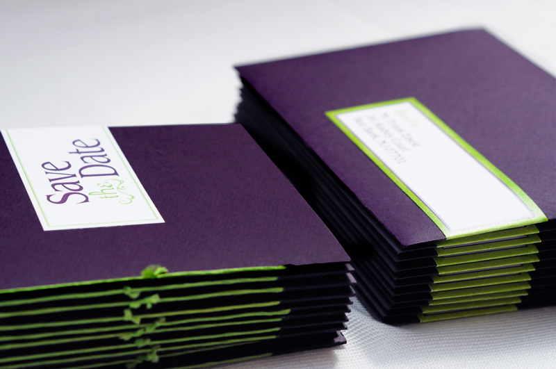 Purple And Green Wedding Invitations Modern | www.pixshark ...