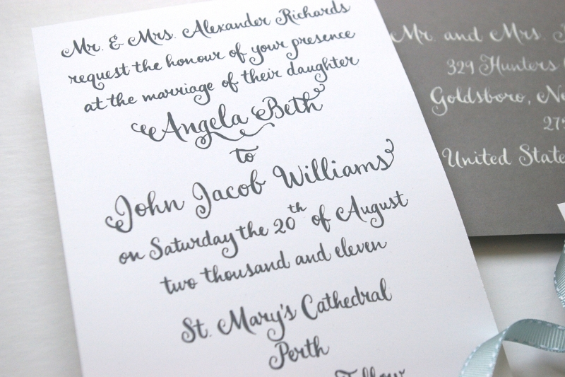 whimsical calligraphy from barbara kua With calligraphy wedding invitations toronto