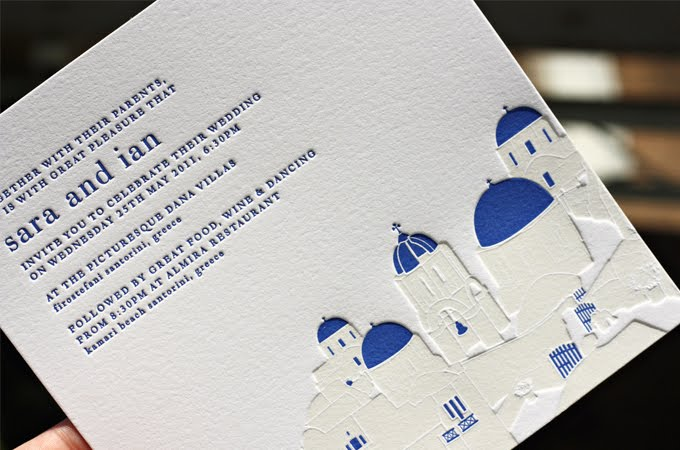 These stunning invitations from Bespoke Letterpress for a wedding on the
