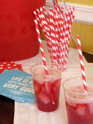 red white blue circus birthday party red straws 300x400 Red + Aqua Carnival Birthday Party Invitations for Grace!