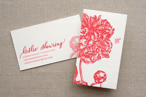 Floral-Calligraphy-Business-Cards
