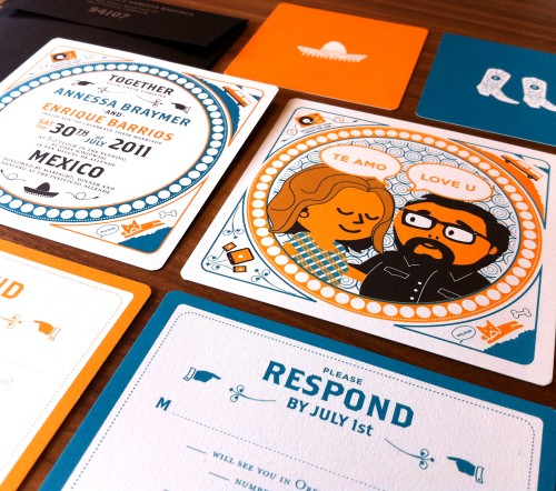 Orange-Blue-Modern-Mexico-Wedding-Invitations-Suite