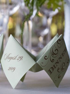 Interactive wedding menu idea Wedding Details: Creative Menu Ideas