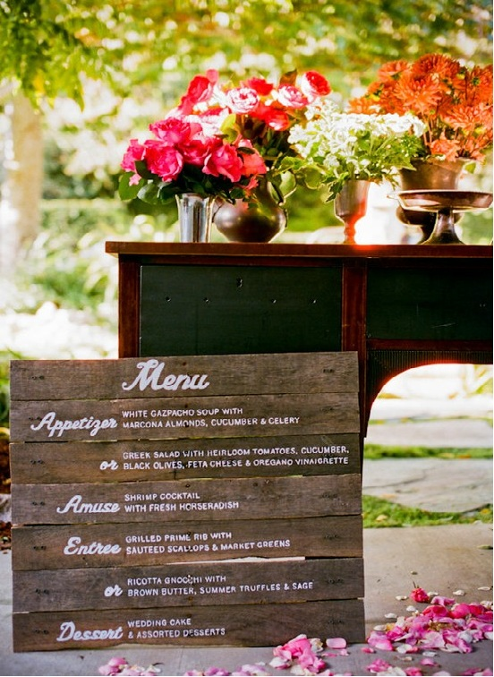 wood wedding menu idea 300x410 Wedding Details Creative Menu Ideas