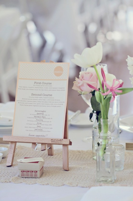 Wedding Details: Creative Menu Ideas