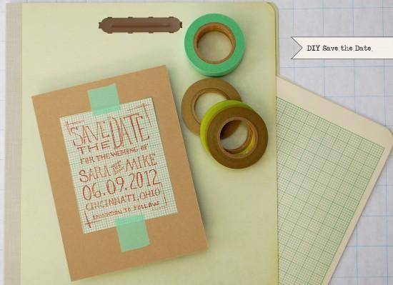 DIY Geek Chic Rubber Stamp Wedding Save the Date Tutorial