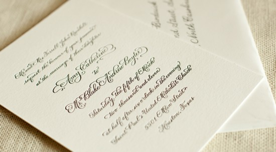 Classic-Black-White-Letterpress-Wedding-Invitation-Calligraphy