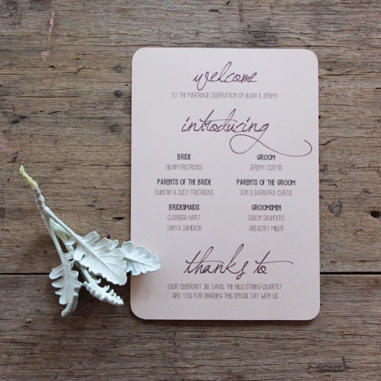 Earthy-Wood-Handwriting-Wedding-Invitation-Akimbo-Ceremony-Program