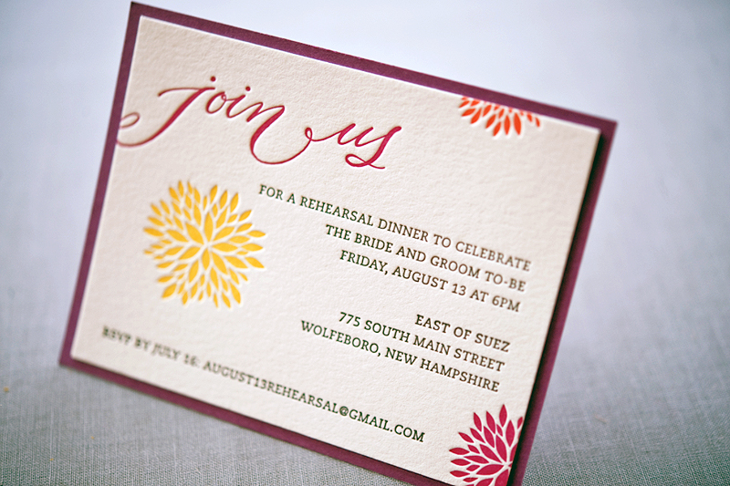 Whitney A K S Colorful Letterpress Wedding Invitations