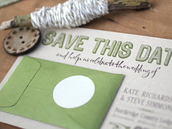 Modern-Green-Kraft-Typography-Wedding-Invitations-Detail