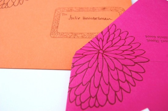 Pink-Orange-Letterpress-Fourth-Birthday-Party-Invitation-Envelope-Detail