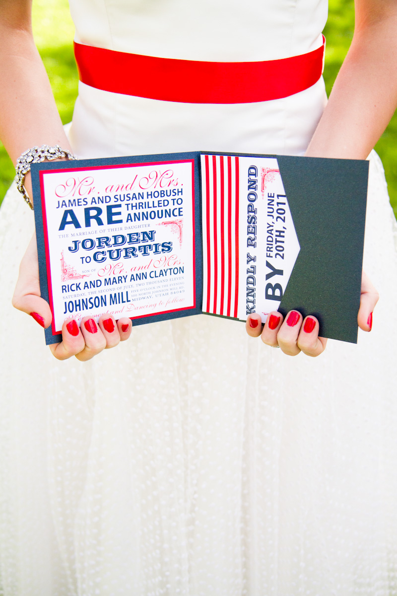 Red, White + Blue Wedding Stationery Inspiration