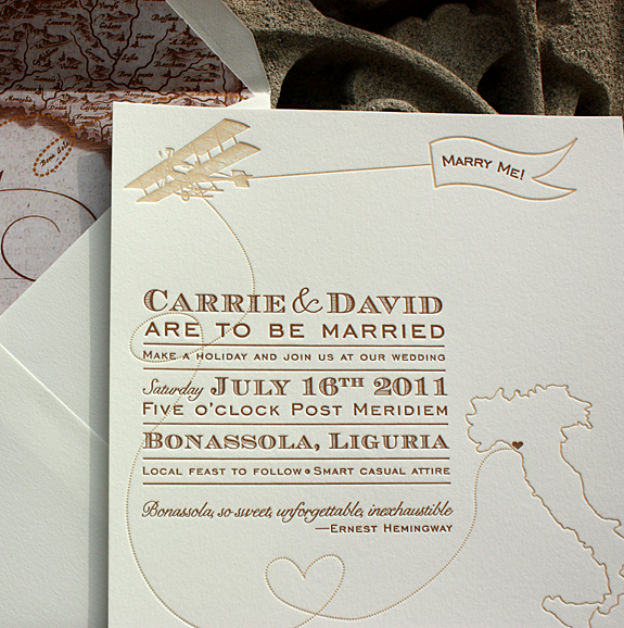 Vintage-Inspired Invitations for a Destination Wedding in ...