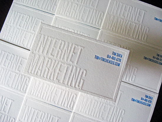 Business card ideas and inspiration 10 white knockout text business card dolce press colourmoves