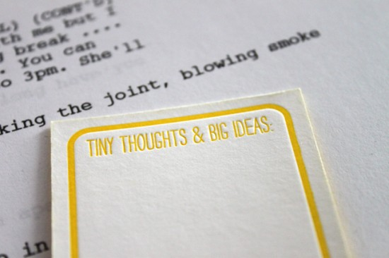 Yellow Letterpress Business Cards3 550x366 Pretty Yellow Business Cards for a Writer